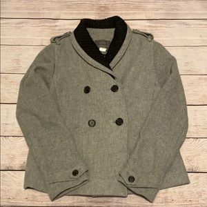 J. Crew Stadium Cloth By Nello Gori Pea Coat